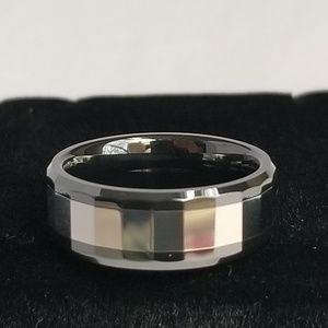 Beautiful Ceramic & Tungsten Ring